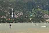 Kiteboarding, Squamish, British Columbia