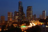 Seattle Downtown Cityscape Twilight