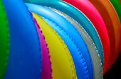 The Close Up Of Colorful Swimming Rings