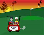 Golfing Illustration