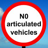 Order sign No articulated vehicles