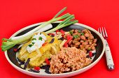 Mexican Plate On Red