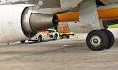 Jet Engine And Wheel