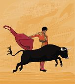 stock photo of bolero  - Dance with bull  - JPG