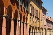 Porticoes Of Bologna's Old City Center