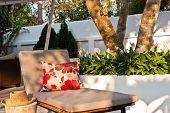 Villa Garden With Sunlounger