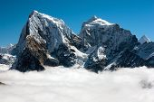 view from Gokyo Ri to Arakam Tse, Cholatse and Tabuche Peak - trek to Everest base camp - Nepal