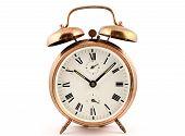 Old-fashioned Vintage Copper Alarm Clock