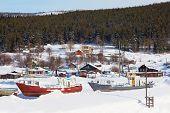 Pomeranian Village. Winter Landscape