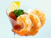 Shrimp In A Martini Glass