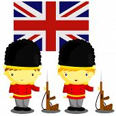 British Soldier and Flag
