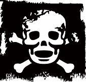 Grunge Vector cráneo