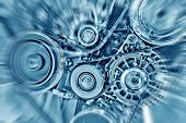 stock photo of electrical engineering  - Part of car engine  made in china - JPG