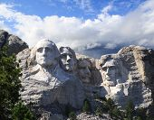 stock photo of mount rushmore national memorial  - Mount Rushmore National Memorial in South Dakota - JPG