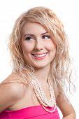 beautiful girl with beads