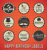 Vintage Happy Birthday Labels