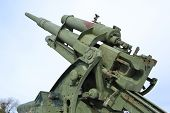 Old Antiaircraft Gun Of The Second World War