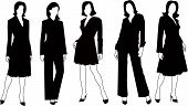 Vector sillhouettes collection of woman