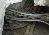 Telephone Cables And Optical Fibers For Communication In Underground Excavation