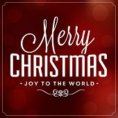 Christmas Typographic Background / Merry Christmas / Joy To The World