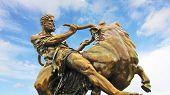 Medieval Hero Statue, Schwerin, Germany
