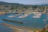 Marina Overlooking Anacortes Washington