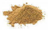 picture of garam masala  - Heap of ground cumin isolated on white background - JPG