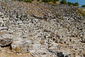 pic of dalyan  - Kaunos amphitheatre in Dalyan Ancient City - JPG