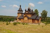 Wooden Church Of All Saints Of Siberia. Verkhoturie. Russia.