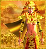 picture of pharaohs  - Egyptian Warrior Queen - JPG