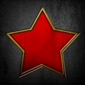 picture of iron star  - metal plate with star - JPG