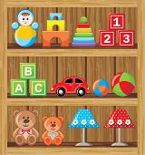 Shelfs With Toys