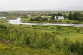 picture of prime-minister  - Church and a farm in Thingvellir - JPG