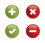 Validation icons. Vector illustration.