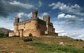 Manzanares El Real Castle (spain), Build In The 15Th. Century