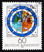 Postage Stamp Germany 1982 Calendar Illumination, By Johannes Ra