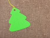 Christmas tree shape label tag