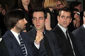 LOS ANGELES - NOV 7:  Jason Schwartzman, B.J. Novak, Colin Farrell at the Emma Thompson Hand and Foo