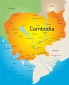 Vector map of Cambodia country
