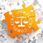 Complaint Concept on Orange Puzzle.