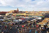 Djemaa el Fna market in Marrakesh, Morocco