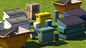 foto of dumpster  - Dumpsters and skips on the grss - JPG