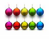 Christmas shiny balls