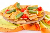 Potato Chips And Vegetables