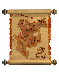 picture of treasure map  - Pirate map  - JPG