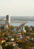 Saratov Engels bridge over the Volga
