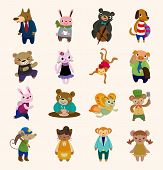 picture of lap dancing  - 16 Cute Animal Icons Set - JPG