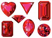 Different cut ruby