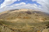 The Big Crater In Negev Desert.