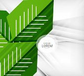 Green stylized geometrical leaves concept design